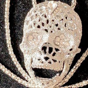 Skull rhinestone necklace by fashion jewelry nwt
